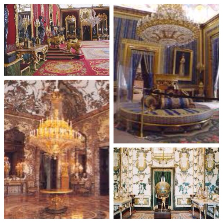 Gorgeous rooms of the royal palace in Madrid