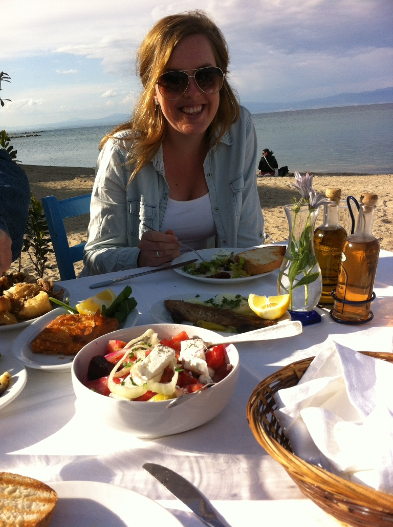 Lunch next to the sea...