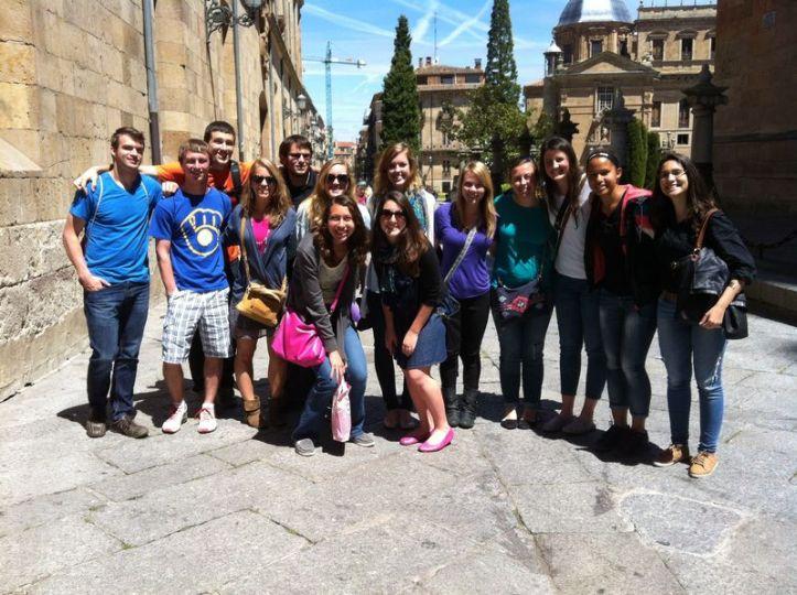 The group in Salamanca