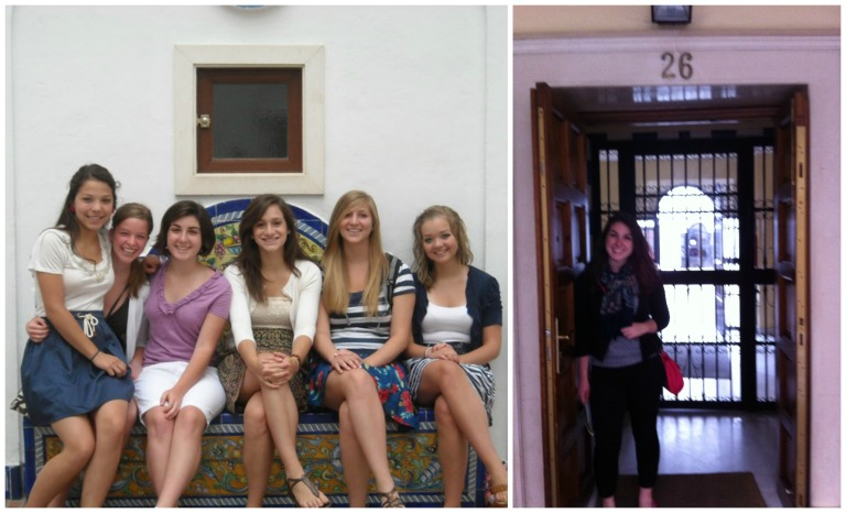 First day of school with the Barrington girls in 2010 and visiting again in 2014.