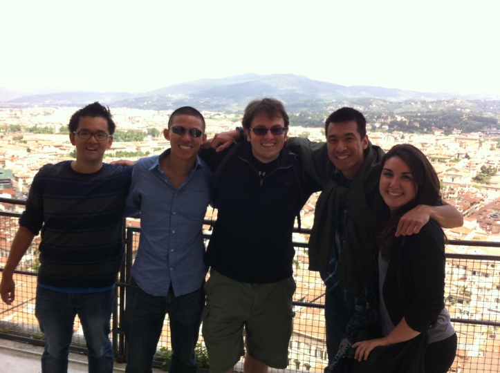 New friends from California in Florence!