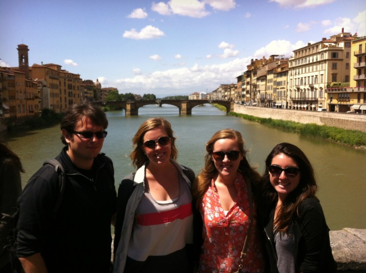 The four of us on the Ponte Vecchio