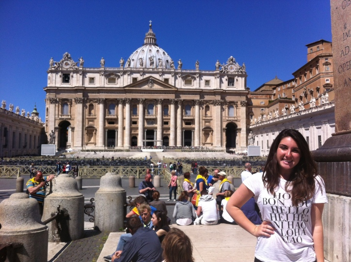 St. Peter's Basilica in the background