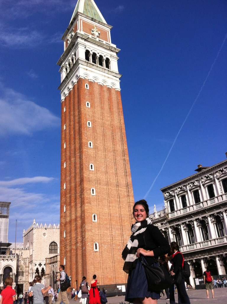 Full view of the campanile in the plaza!