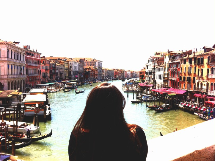 Taking in the sights on the Grand Canal