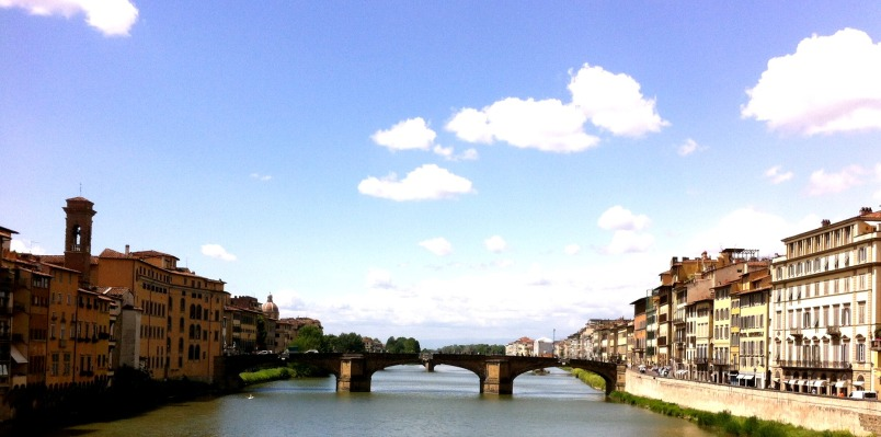 View from the Ponte Vecchio. Florence, Italy.