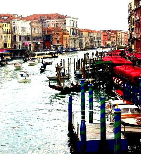 Colors of the Grand Canal. Venice, Italy.