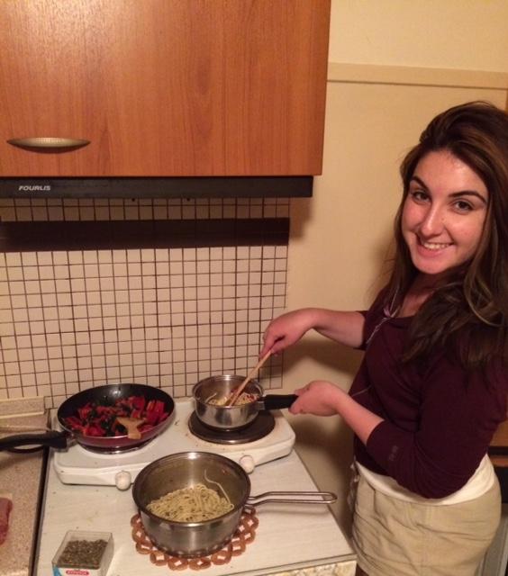 Making you proud, Mom! (Surprise, I'm making pasta!)